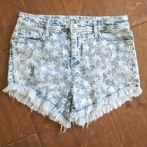 MOSSIMO Jeans High  Rise Short Stretch  Sz 4/27